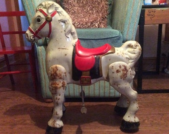 1950s Mobo moving pedal horse children's toy (advertising/shop window/display piece)