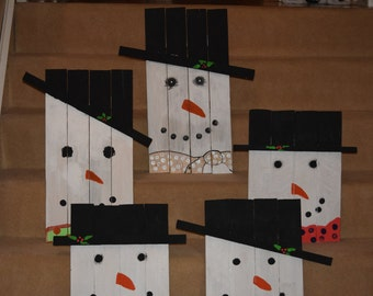 Pallet Snowmen, Great Christmas Gifts