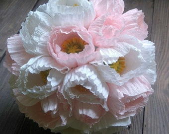 Wedding alternative bouquet with icelandic poppies