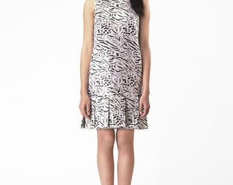 Wild-silver pleated dress