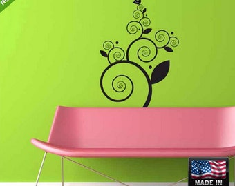 Flowers Wall Decal Flowers Wall Decal Flower Wall Sticker Flower Sticker For Wall floral wall decals Bird wall decal (Z127)