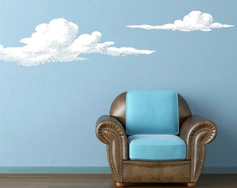 clouds wall decal stickers clouds wall stickers clouds wall decor clouds wall art clouds for wall clouds wall stencil (Z826)