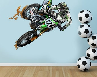 Good Full Color Moto Bike Dirt Bike GP Vinyl Wall Decal Sticker Mural Art Decor  Interior Kids Part 29