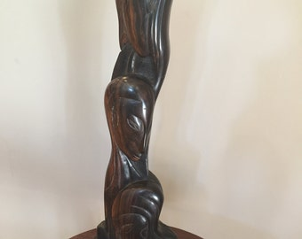 Hand carved ebony sculpture