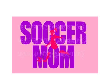 Soccer mom Girl knockout t-shirt design  SVG Cut file  Cricut explore filescrapbook vinyl decal wood sign t shirt cricut cameo