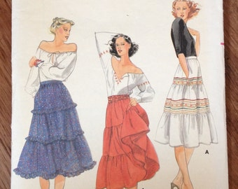 70s Butterick Peasant Skirt Sewing Pattern 5671