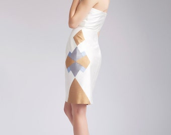 SALE! Strapless wedding dress, silk dress - Maah dress by Hanieh Fashion - Free Shipping!