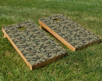 Invisible Cornhole Board Decals (Camo)