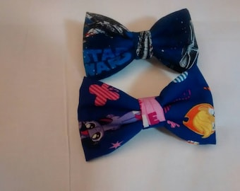 Star Wars and My Little Pony Bow Barrettes