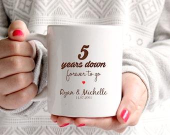 5th anniversary gift 5th wedding anniversary 5th anniversary 5 years marriage personalised