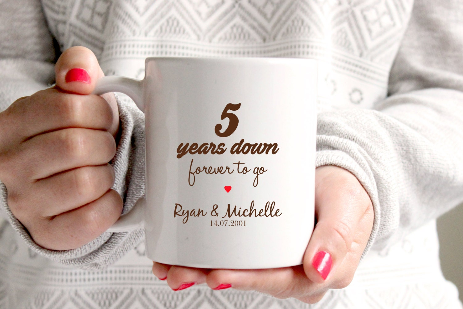 5th Wedding Anniversary Traditional Gifts: 5th Anniversary Gift 5th Wedding Anniversary 5th