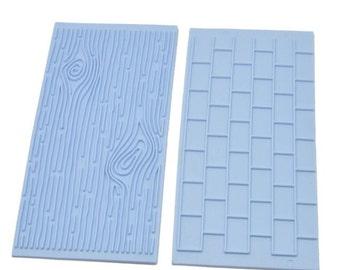 2 Piece Brick/Wood Grain Embosser Mold