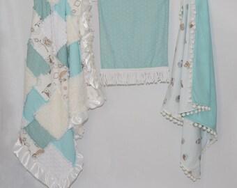 Teal Owl Super Soft Baby Blanket