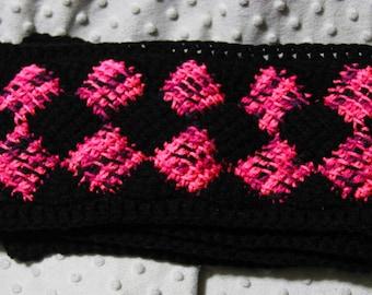Tunisian Entrelac Crochet Scarf