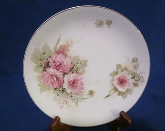 Shabby chic rose patterened plate.