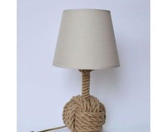 Bosun 03 night lamp made from jute rope, nautical lamp, marine night light, marine bedroom, jute lamp, little night lamp, nautical bedroom,