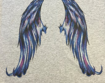 Blue Wings (printed on back of shirt)