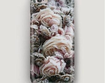 Frozen Rose iPhone 6 Plus Case, iPhone 6 Case Winter, iPhone 5s Case Flower, iPhone 5c Case, iPhone 4 Case