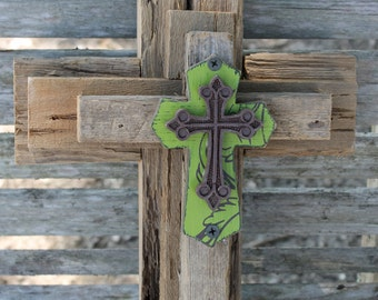 Rustic cross, decorative crosses, cross wall decor, unique wall cross, reclaimed wood, wooden cross, decorative wall cross, wall cross