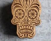 Skull Wood holder for pen Carved skull Pen Stand Desk Pencil Stand skull pen holder Office Pen Organizer skull pen holder Deck Pen Holder