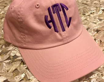 Personalized Ladies Baseball Cap- Monogrammed Hat- Initials, Name, or Other Text- Gift for Mom Bridesmaid Monogram Custom Hat