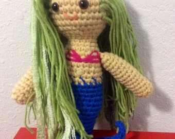 mermaid amigurumi doll