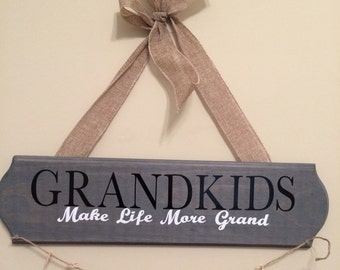 Grandkids Sign- See pictures for color options
