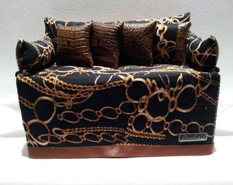 Item #011 Tissue  Box Couch Double Dual