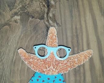 Starfish Christmas Ornament Beach Ready with Sunglasses