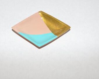 Hand-painted Wooden Diamond Jewelry Dish