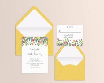 Spring Blooms Wedding Suite - Set of 25 or Digital