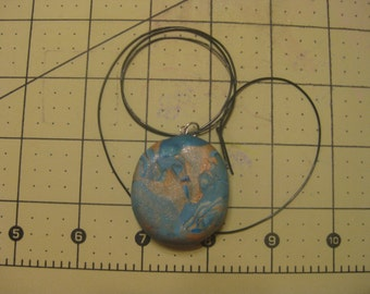 bronze/copper blue pendant