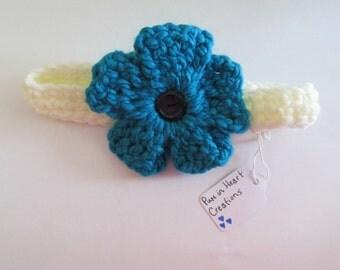 Flower Crochet Headband