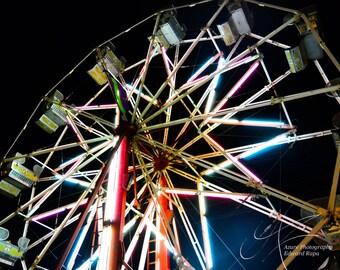 Color wheel, ferris wheel photograph, photography, art