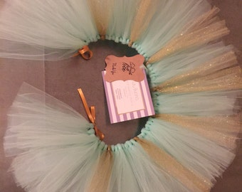 Mint & Gold High Chair Tutu