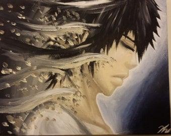 Anime Guy OC Painting- Midnight