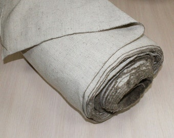 Linen cotton tarpaulin natural canvas fabric heavy weight Eco-product, Wide: 155cm