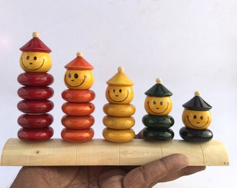 Peppy Five Wooden Stacking Toy