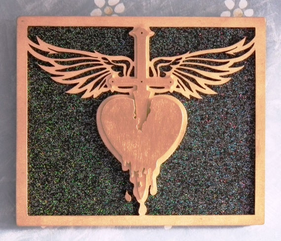 Bon Jovi Inspired Wooden Picture Rock And Roll Music Artwork