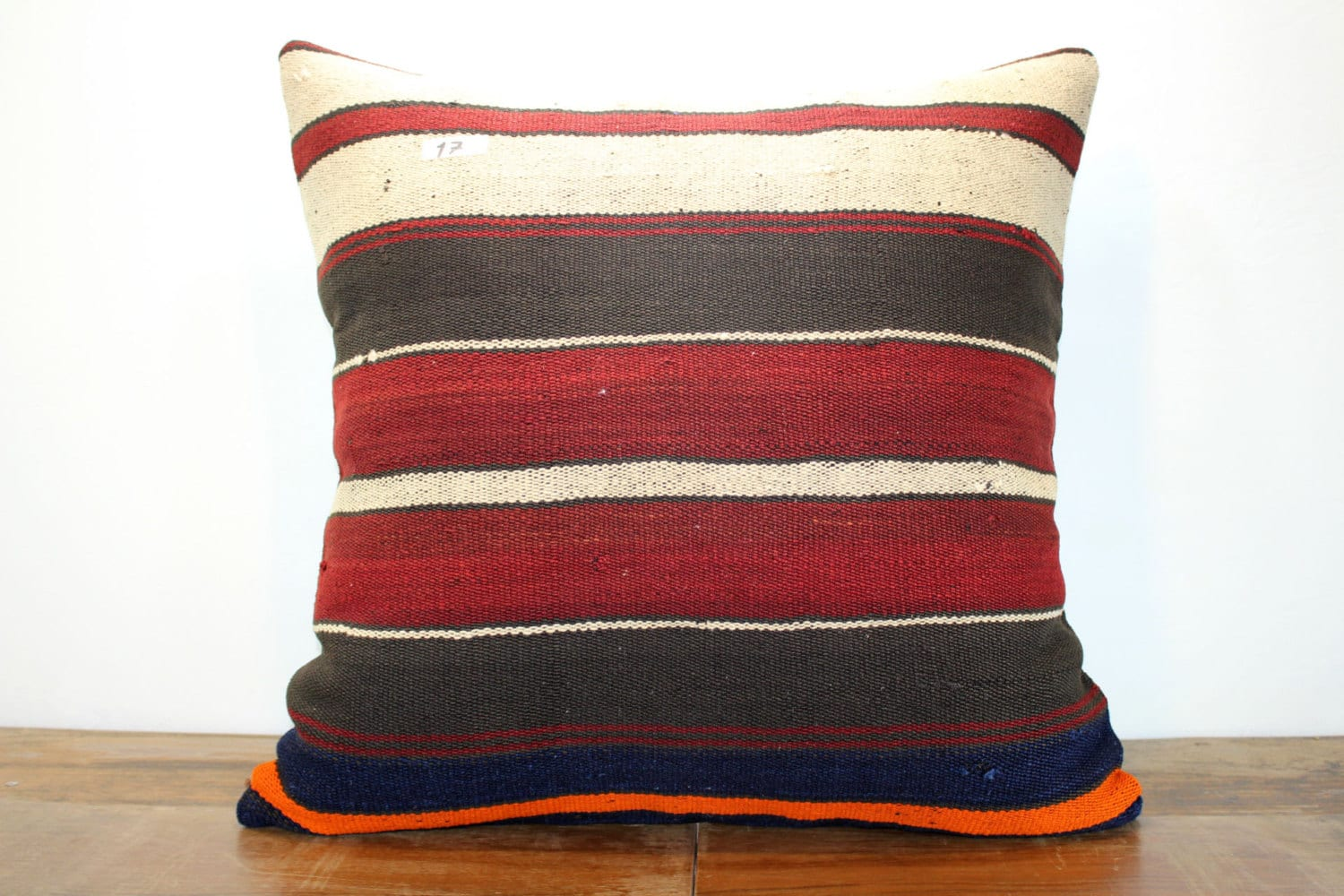 Large Floor Pillow Cases : Throw Pillow Floor Cushion Case 28x28 Stripe Kilim Pillow