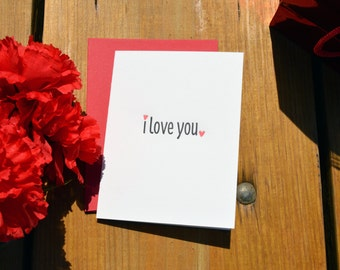 I Love You - Letterpress card