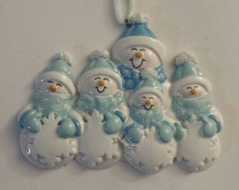 SNOWMAN FAMILY in BLUE - NFS45