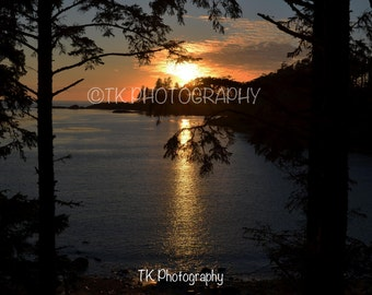 Sunset at Terrace Beach, Ucluelet, British Columbia. 5x7