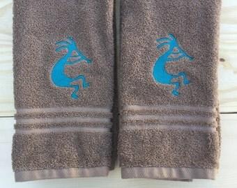 Kokopelli Towels, Set of 2