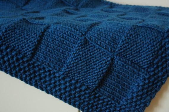 Knitting Pattern Travel Blanket : Knit Baby blanket. Reversible. Baby travel blanket by ...