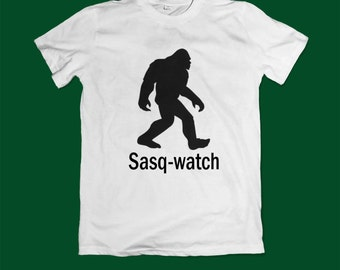 Bigfoot T shirt - bigfoot top tee shirt - monstr shirt Sasquatch tshirt- yeti shirt - bigfoot shirt - sasquatch gift for him gift for her