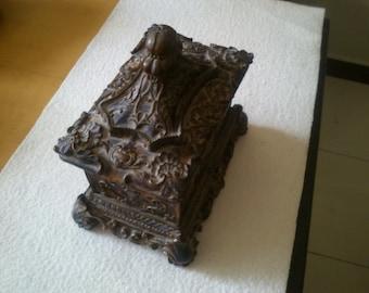 Paper  mache  box.