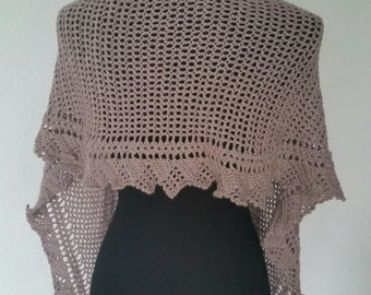 crochet summer shawl