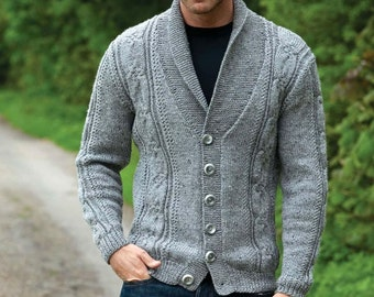 Mens shawl collar cardigan/sweater
