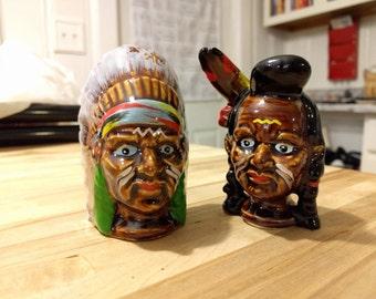 Antique Native American Salt & Pepper Shakers